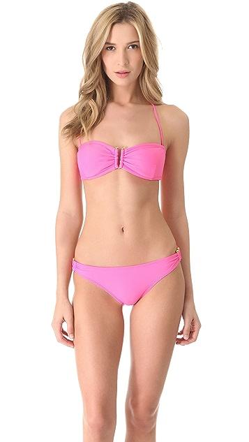 Shoshanna Bubble Gum U Bandeau Bikini Top