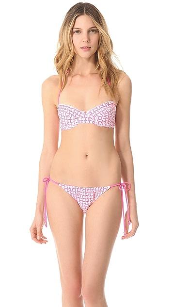 Shoshanna Moroccan Tile Halter Bikini Top