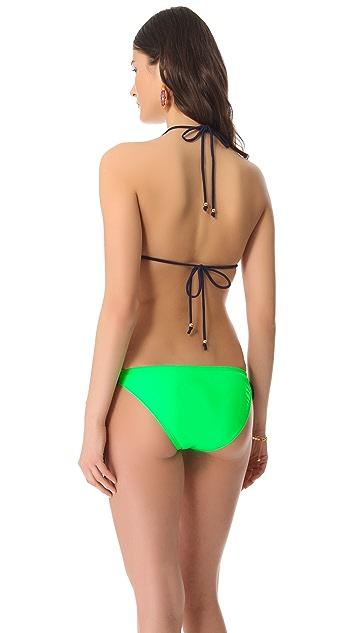 Shoshanna Beaded Triangle Bikini Top