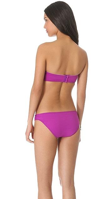 Shoshanna Ultraviolet Twist Bikini Top
