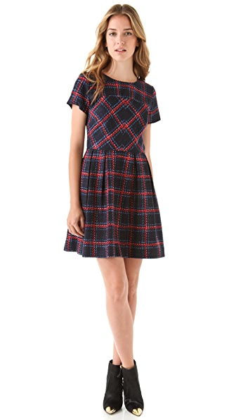 Shoshanna Allison Plaid Dress