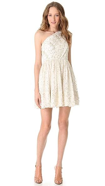Shoshanna Rayna One Shoulder Dress