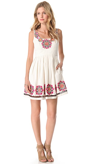 Shoshanna Embroidered Lynette Dress