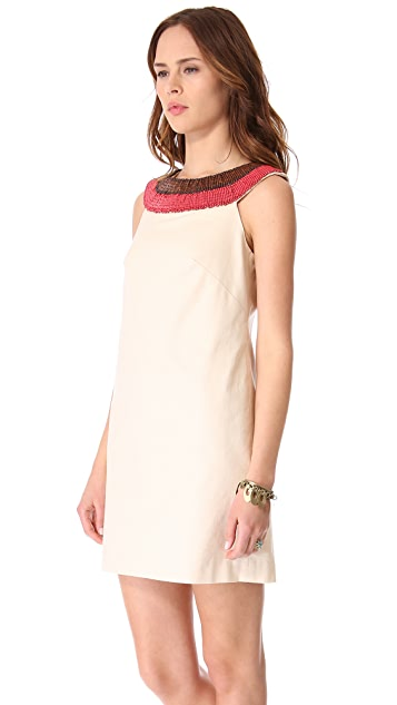 Shoshanna Beaded Hally Shift Dress