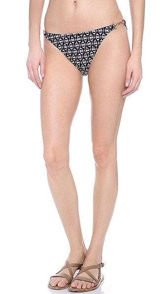 Shoshanna Hill Crest Chain Print Bikini Bottoms