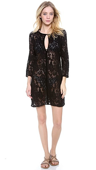 Shoshanna Black Fresia Lace Cover Up