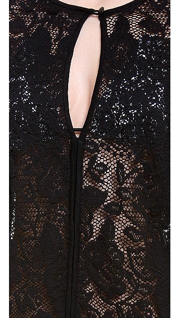 Shoshanna Black Fresia Lace Cover Up