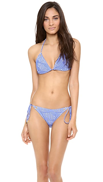 Shoshanna Corfu Print Bikini Top