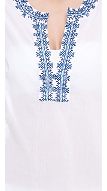 Shoshanna Santorini Embroidered Cover Up