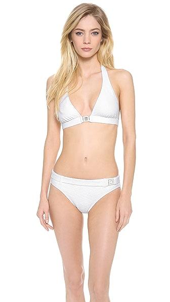 Shoshanna Thessaly Texture Bikini Top