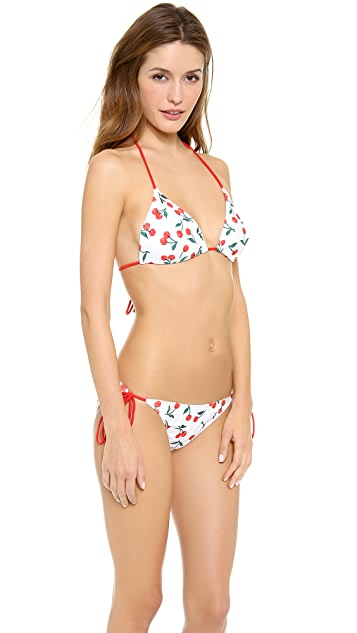 Shoshanna 15th Anniversary Cherries Print Bikini Top