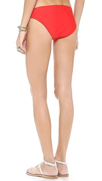Shoshanna Cherry Red Solids Bikini Bottoms