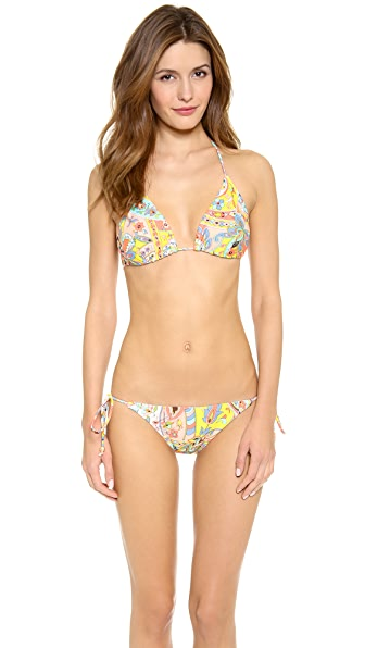Shoshanna Bohemian Floral Bikini Top