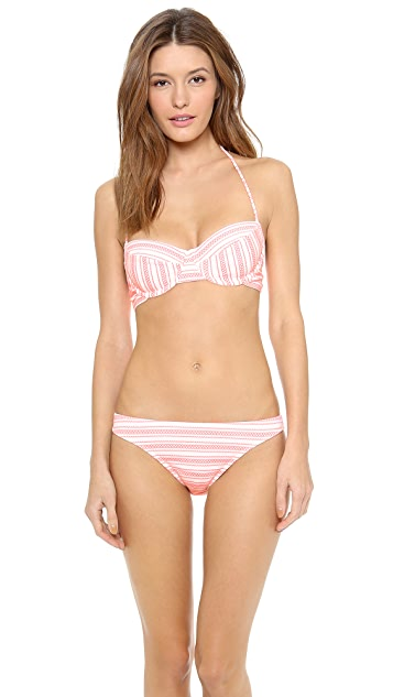 Shoshanna Seven Lakes Stripe Bikini Top
