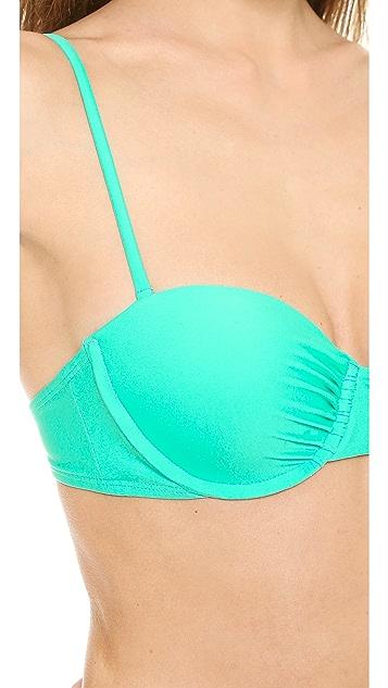 Shoshanna Craibbean Green Bikini Top