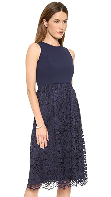 Shoshanna Lace Harlow Midi Dress
