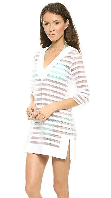 Shoshanna Pizval stripe Coverup tunic