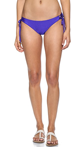 Shoshanna Blue Lace Up Bikini Bottoms - Klein Blue
