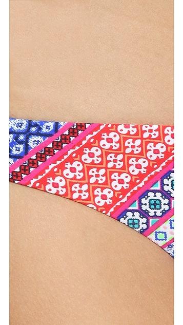 Shoshanna Chevron Tapestry Bikini Bottoms