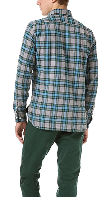 Shipley & Halmos Marine Heather Tartan Shirt