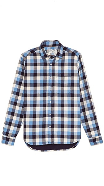Shipley & Halmos Marine Purple Reverb Plaid Shirt