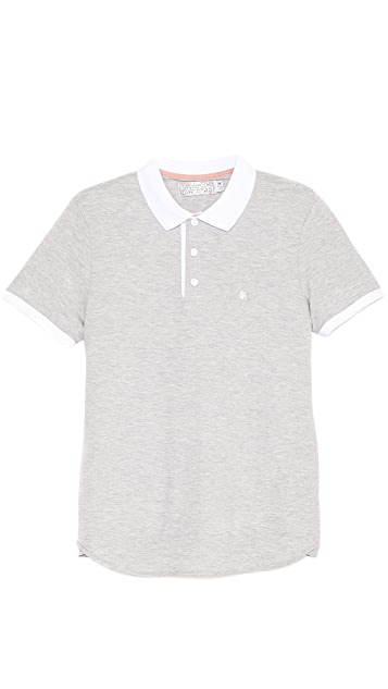 Shipley & Halmos James Gym Grey Polo Shirt