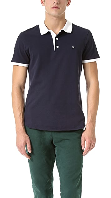 Shipley & Halmos James Midnight Navy Polo Shirt
