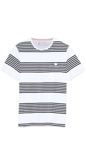 Shipley & Halmos Mav Stripe Pocket Crew T-Shirt