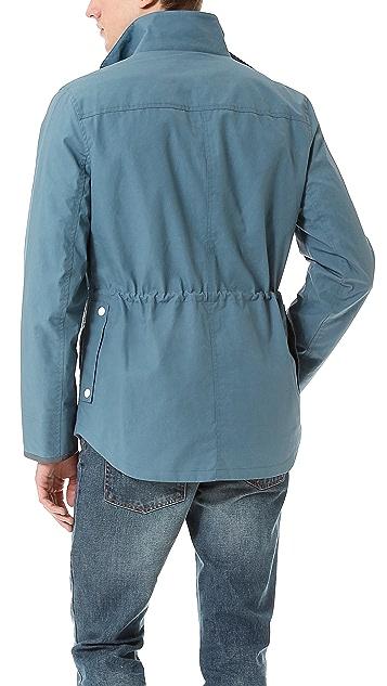 Shipley & Halmos Fin Blue Waxed Cotton Jacket