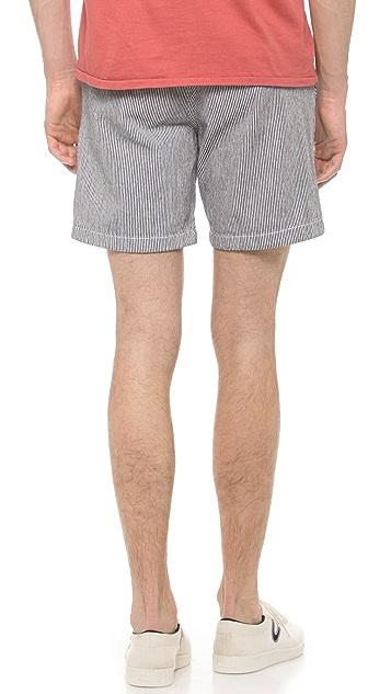 Shipley & Halmos Hudson Seersucker Shorts