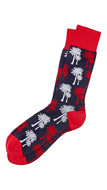 Shipley & Halmos Highland Palm Tree Socks