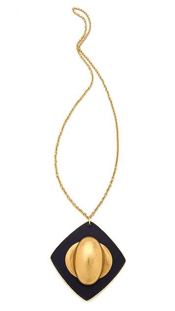 Sandy Hyun Leather Pendant Necklace