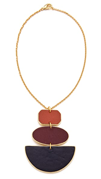 Sandy Hyun Geometric Three Drop Necklace