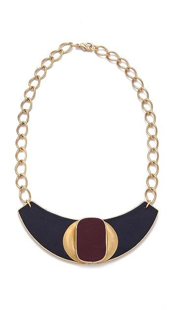 Sandy Hyun Deco Leather Bib Necklace