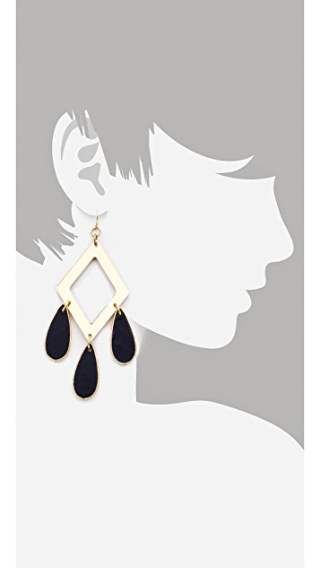 Sandy Hyun Tri Drop Earrings