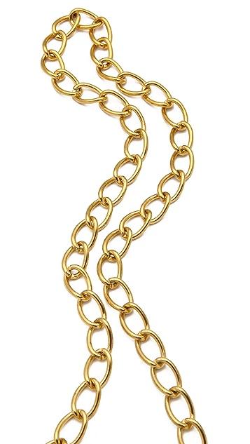 Sandy Hyun Long Crystal Pendant Necklace