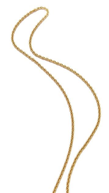 Sandy Hyun Deco Triangle Pendant Necklace