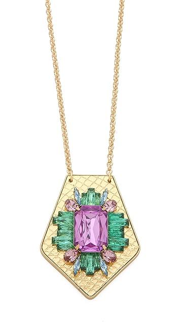 Sandy Hyun Jeweled Pendant Necklace
