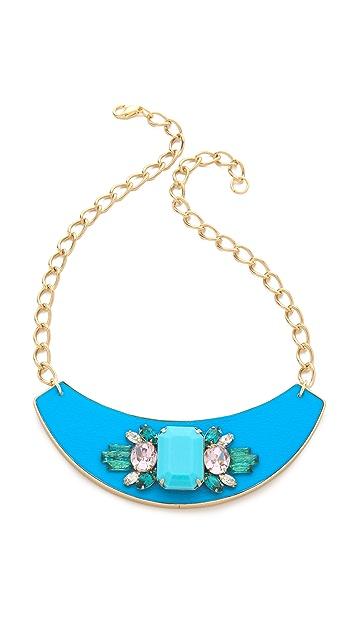 Sandy Hyun Jeweled Bib Necklace