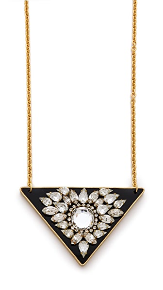 Sandy Hyun Crystal Embellished Pendant Necklace