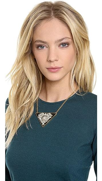 Sandy Hyun Crystal Embellished Pendant Necklace