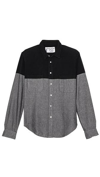 Sidian, Ersatz & Vanes Chambray Colorblock Shirt
