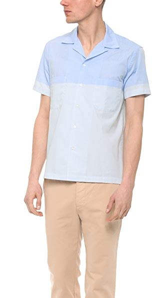 Sidian, Ersatz & Vanes Color Block Short Sleeve Woven Shirt