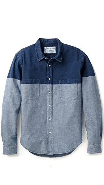 Sidian, Ersatz & Vanes Washed Chambray Shirt