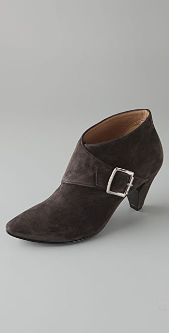 Sigerson Morrison Monk Strap Suede Booties