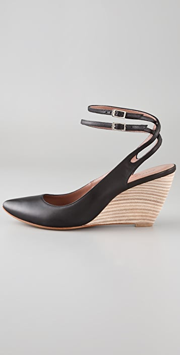 Sigerson Morrison Pointed Toe Wedge Pumps