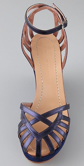 Sigerson Morrison Birdcage Wedge Sandals
