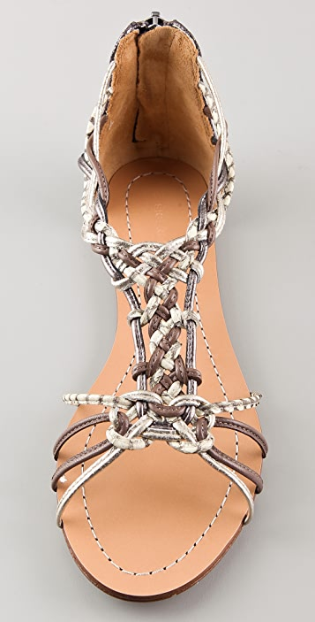 Sigerson Morrison Randy Woven Flat Sandals