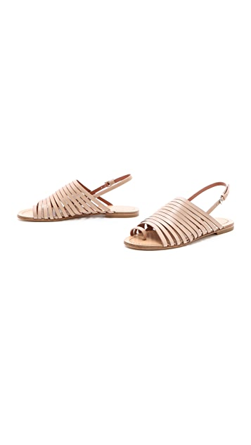 Sigerson Morrison Flat Strappy Sandals