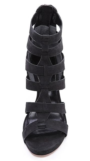 Sigerson Morrison Vernice Wedge Sandals